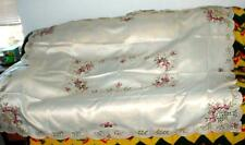 """Brand New Silk Cotton 69""""x51"""" Square Tablecloth EMBROIDERED Gorgeous FLOWERS"""