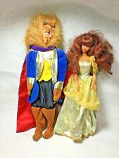 Disney Beauty and the Beast Barbie Dolls Mattel 1990sFur Mask Cape