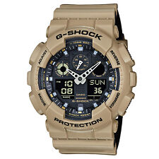 Casio G-Shock Black Dial Mens Sand Beige Sports Watch GA100L-8A