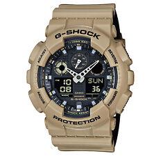 673bafbc44ea45 BRAND NEW CASIO G-SHOCK GA100L-8A ANA-DIGI SAND/BLACK MENS