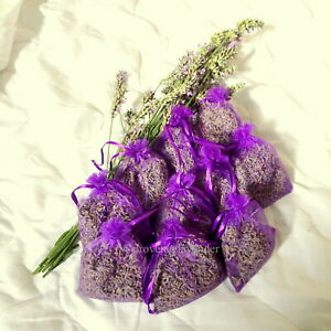 Lavender Organza Bags certified pure organic Provence Lavender 10x bags full