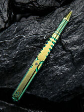 We Knife Co. Green Gold Titanium Tactical Pen TP-02B
