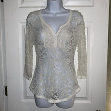 Almost Famous Juniors Ivory Cream Off White Lace Top Size Xl