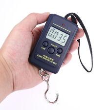 ✓ PESON ELECTRONIQUE DIGITAL BALANCE PESE BAGAGE VALISE POISSON 40KG 10GR SCALE