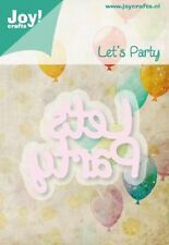 JOY CRAFTS Die Cutting & Embossing Stencil - LET'S PARTY -  6002/0427