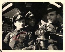 21527/foto original 10,5x13,5cm, fuerza aérea, pilotos, DKG, cabina! eh 111