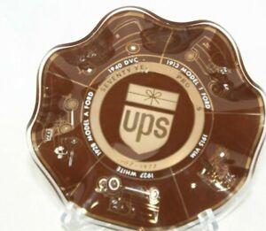 United Parcel Service UPS 1907-1977  70 Years Progress Glass Ashtray Candy Dish