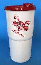 Tupperware Cheerleader Thirstquake Tumbler 30 oz Cup Red White New