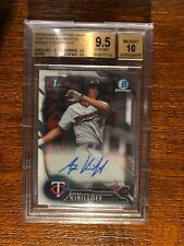 ALEX KIRILLOFF 2016 Bowman Chrome Auto BGS 9.5/10 Twins QTY