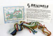 Vintage Dollhouse Miniature Rug Kit Needlepoint Persian Wool CJ Originals House
