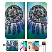 Dream Catcher Wallet TPU Case Cover For LG G4-- A026