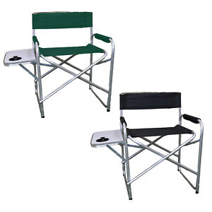 Folding Directors Chair Portable Camping Outdoor Garden Chairs With Cup Holder