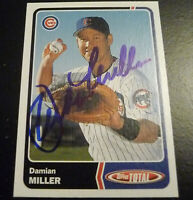 Damian Miller SIGNED 2003 Topps Total #799 Chicago Cubs AUTOGRAPH Diamondbacks