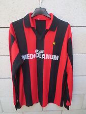 VINTAGE Maillot MILAN AC maglia calcio MEDIOLANUM 80's trikot shirt jersey L