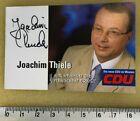 200.283.Joachim Thiele CDU, Politik orig. signi. Visitenkarte, 85 x 55 mm