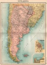 ARGENTINA. Inset Buenos Aires. BARTHOLOMEW 1898 old antique map plan chart