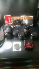 Vintage 70's SEARS KS-2 35mm Camera W/ Acessories Lenses & More. Pentax PK mount
