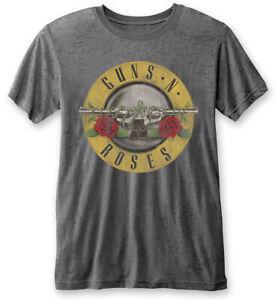 Guns N' Roses 'Classic Logo' (Grey) Burnout T-Shirt - NEW & OFFICIAL!