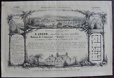 A LOUER MEUBLEE OU NON MEUBLEE, MAISON CHANGIS (FIN 19EME), ANNONCE DESSIN  PLAN