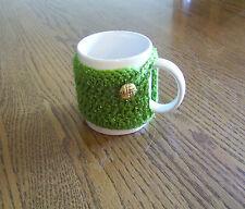 Crochet Green with Metallic Green Coffee Mug Cozy