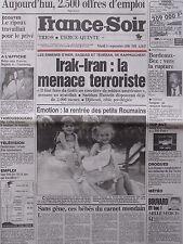 ▬► Journal France Soir 11/09/1990 Jane Birkin