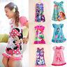Kids Girls Nightwear Cartoon Character Pajamas Nightie Nightdress Princess Dress