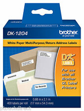 Brother DK1204 White Return Address Labels for QL550, QL-550 label printers