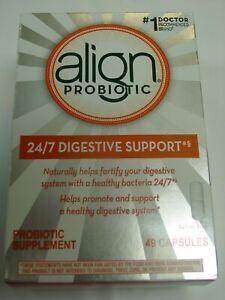 Align Probiotic Digestive Supplement 49 Capsules EXP 01/2023 NEW