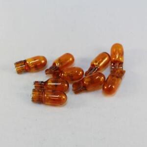 T10 12V 5W  Amber Wedge Bulbs (Box of 10) Made in Korea. Long Life