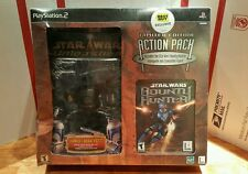 NEW PS2 Star Wars Bounty Hunter LIMITED EDITION PACK w/JANGO & BOBA FETT Figures