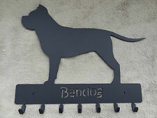 Key rack with 7 hooks, Bandog dog design