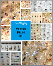 Wholesale - 20 PAIRS! EARRING LOT on STERLING SILVER POSTS for Sensitive Ears