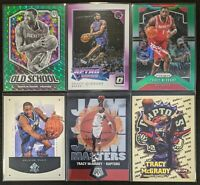 Lot of (6) Tracy McGrady, Including Old School/Prizm Green, Hoops RC, Optic more