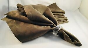 Sferra 8 Brown Botanical Pattern Napkins 22 X 22 New Not In Packaging
