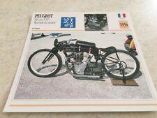 Carte moto Peugeot  500 P515 record du monde 1934 collection Atlas motorbike
