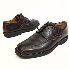 Mephisto Men's Shoes Brown Leather Bicycle Toe Oxfords Casual Dress 11.5 EUR 11