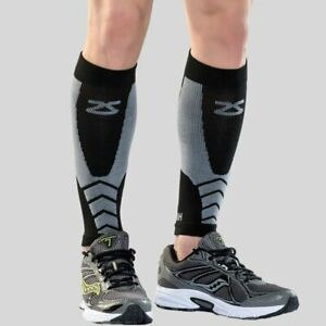 Zensah Wool Compression Running Leg Calf Sleeves Black