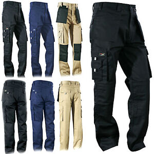 Cargo Heavy Duty Work Wear Trouser Holster  & Knee pad Pockets