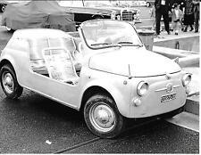 FIAT 500 JOLLY GHIA MONACO GRAND PRIX 1966 fotografia spiaggine Foto RARA