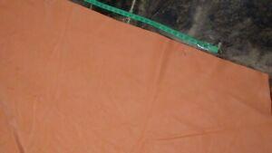 "Italian Cowhide leather skin  Orange Coral  40"" x 60"" Inches 3 oz"