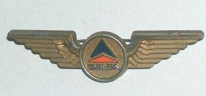 VTG Delta Airlines Stoffel Seals Plastic Gold Pilot Wing Hat Brooch Lapel Pin 46