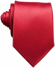 $115 PERRY ELLIS Men RED SOLID SLIM NECK TIE DRESS SKINNY CASUAL NECKTIE 60X3.25