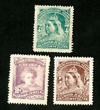 Great Britain Stamps VF OG Hinged 1897 Diamond Jubilee Set of 3