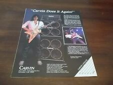 1984 Vintage Ad for CARVIN V220 GUITAR feat. CRAIG CHAQUICO JEFFERSON STARSHIP