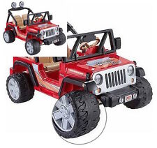 Kids Electric Red Jeep Car Battery Powered Power Wheels Ride On 12 Volt