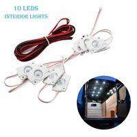 12V 10 LED Plafonnier Intérieur Ampoule Éclairage Blanc Camion Remorque Caravane