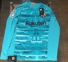 Nike Men's FC Barcelona La Liga Home 19/20 GK Jersey Bright Cabana/Turquoise NWT