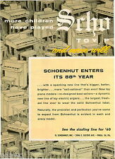 1960 ADVERT 2 PG Schoenhut Toy Piano Electric Organ Pianos 88th Year