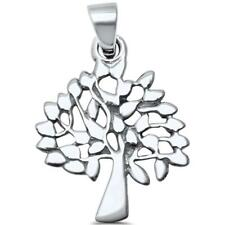 Plain Tree of Life Family Tree .925 Sterling Silver Pendant
