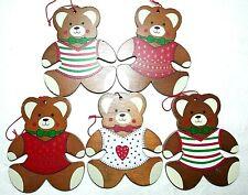 anthropomorphic Bear Christmas ornaments